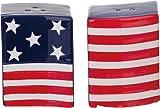 Waving American Flag Salt & Pepper Shaker Set - Ceramic