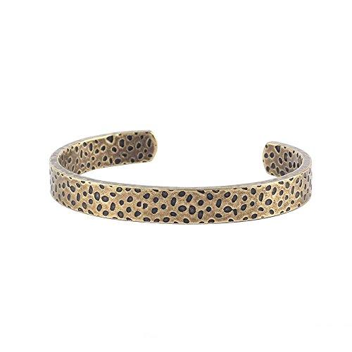 Osye Antique Design Pit Wrist Band Titanium Cuff Bracelet for Men (Antique - Titanium Band Thai