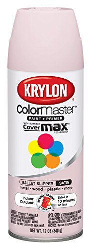 Krylon K05352607 Ballet Slipper 'Satin Touch' Decorator Spray Paint - 12 oz. (Krylon Satin)