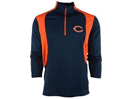 The Antigua Group Inc. Chicago Bears Size Medium Delta 1/4 Zip Pullover Shirt- Navy Blue & Orange