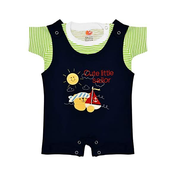 Orange and Orchid Baby Boys' Regular Fit Clothing Set
