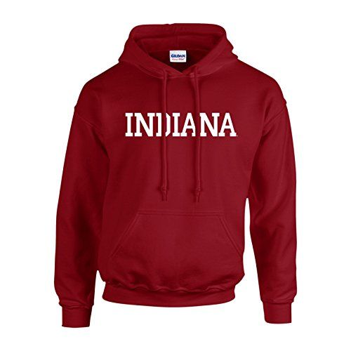 Indiana University Hoosiers Football (Block University of Indiana Hoosiers Basic Hoodie - Small - Cardinal)