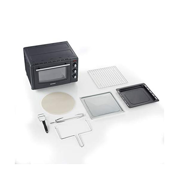 Severin TO 2068 Forno Elettrico con Aria Calda ventilata, 4 Livelli di Cottura, Temperatura Regolabile da 100°C a 230°C… 4