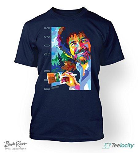 teelocity-bob-ross-officially-licensed-t-shirt-geometric-medium-navy