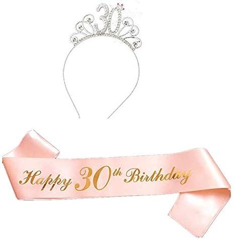 LuMon Cumpleaños Tiara Cristal Coronas Diadema, Feliz ...