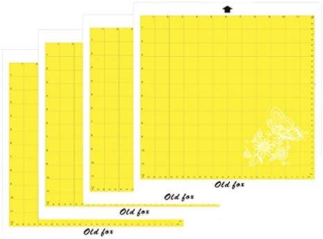 SUPVOX 4pcs tapete de corte cuadrado almohadilla adhesiva extraíble almohadilla de máquina de plotter de corte profesional (amarillo): Amazon.es: Hogar