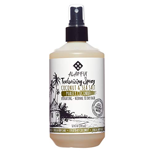 Alaffia - Purely Coconut Texturizing Spray, For Normal to Dry Hair, Hydrating Support to Add Volume and Body with Neem, Coconut Water and Extract, Fair Trade, Coconut and Sea Salt, ()