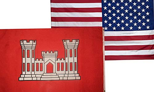 Mikash 3x5 Wholesale Combo USA American Army Corps Engineers Flag 3x5 2 Pack | Model FLG - 3749