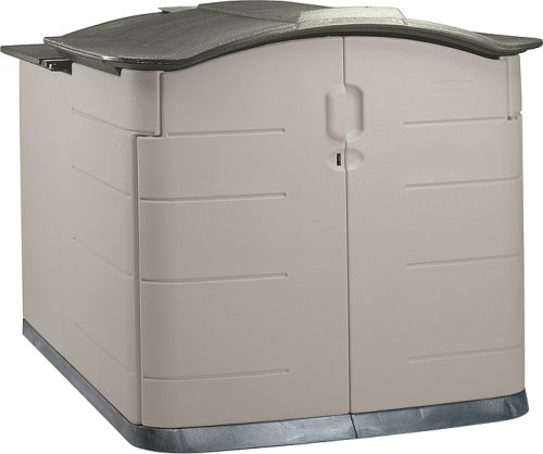 Merveilleux Amazon.com : Rubbermaid Slide Lid Storage Shed 3752, Grey Roof, 92 Cubic Ft  : Garden U0026 Outdoor