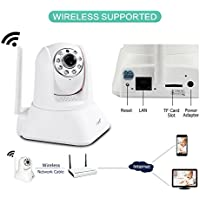 EasyN 1080P HD 128G Wireless Security Surveillance Dome Camera, WiFi IP Camara for Home Monitor Motion Detection Alarm with Two-Way Audio & IR Night Version, White