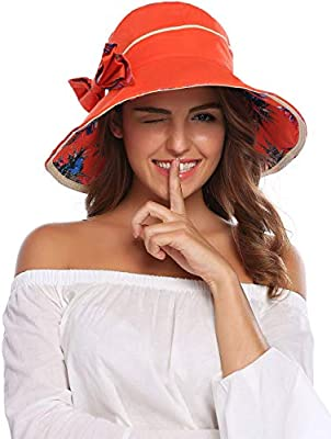 58e91bd13 Packable Extra Large Brim Floppy Sun Hat Reversible UPF 50+ Beach ...