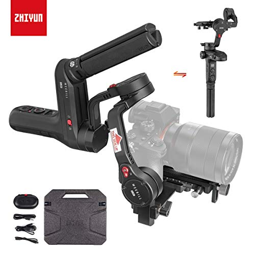 Zhiyun WEEBILL LAB 3-Axis Gimbal for Mirrorless and DSLR Cameras Like Sony A6300 A6500 A7 GH5, Wireless Image Transmission, ViaTouch Control (Standard Package 2019 New) -