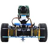 Waveshare AlphaBot-Pi Acce Pack (no Raspberry Pi)- AlphaBot Platform Chassis + Camera Video Remote Control Starter Educational Set for Raspberry Pi 3 B/2 B/B+