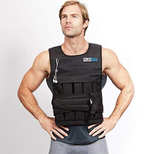 RUNFast RUNmax 12Lbs-140Lbs Weighted Vest Without Shoulder Pads, 60 lb
