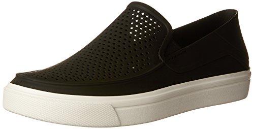 crocs Women's Citilane Roka Slip-On W Flat, Black, 10 M US