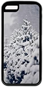 Winter Tree Covered With Snow Theme Iphone 5C Case