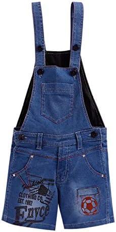FirstClap Denim Solid Short Length Mini Dungaree for Kids Unisex (Boys & Girls) Jumpsuit for Kids
