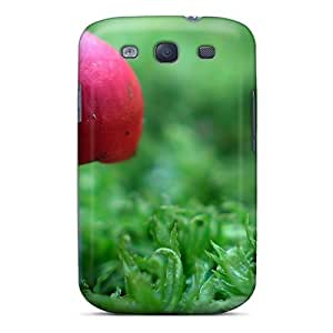 New Arrival Red Mushroom In Green For Galaxy S3 Case Cover