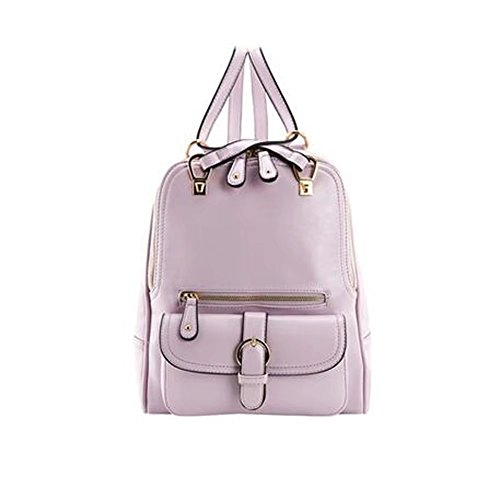 (26 * 11 * 30CM) (lavanda) di modo di tendenza delle donne del college della borsa del sacchetto di spalla del sacchetto di spalla del sacchetto di spalla del cuoio dell'unità di elaborazione GUO -