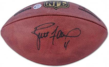 promo code a761d 180ad Brett Favre Signed Football-Official at Amazon's Sports ...
