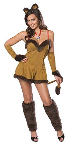 UHC Women's Cowardly Lioness Secret Wish Wizard Of Oz Fancy Halloween Costume, XS (Cowardly Lioness Costume)