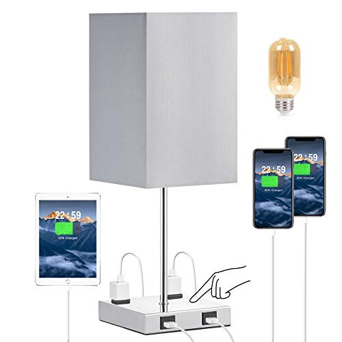 Touch Control USB Table Lamp, Bulb Included