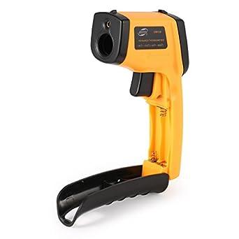BENETECH- Termómetro digital GM530 infrarrojo sin contacto termómetro infrarrojo temperatura pirometro IR Laser Point pistola
