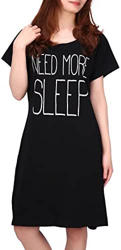 HDE Womens Sleepwear Cotton Nightgowns Short Sleeve Sleepshirt Print Night Shirt S-5X