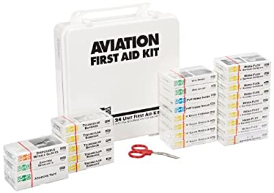Pac-Kit by First Aid Only 8030 72 Piece Airplane First Aid Kit in Weatherproof Plastic Case, For 25 People from Pac-Kit