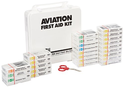 Pac-Kit by First Aid Only 8030 72 Piece Airplane First Aid Kit in Weatherproof Plastic Case, For 25 People