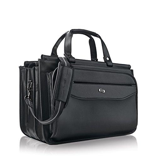 Solo Harrison 16 Inch Triple Compartment Laptop Briefcase, Black by SOLO (Image #1)