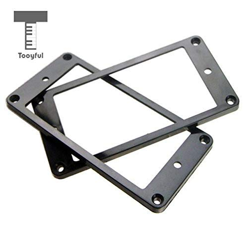 DDV-US - 1 Pair Plastic Guitar Humbucker Pickup Frame Mounting Ring Plate for Electric Guitar Replacement Parts (Humbucker Rhythm)