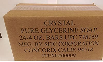 Crystal Glycerine Soap Bars Unscented (24 bars) from SFIC Corporation