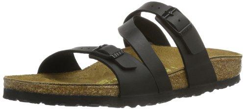 Birkenstock Women's Salina 3-Strap Cork Footbed Sandal Black 38 M EU by Birkenstock