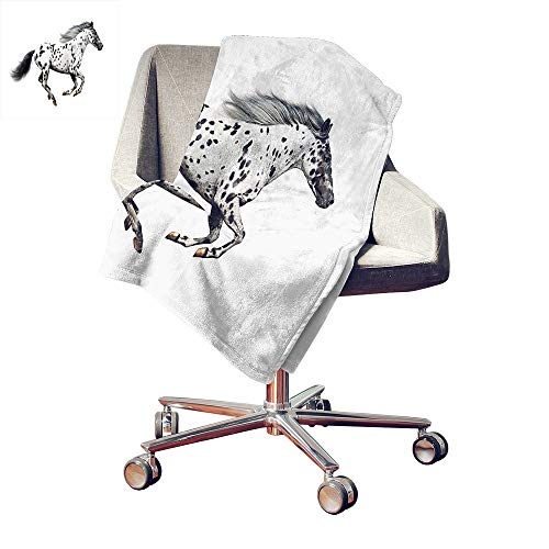 Blanket Appaloosa Horse - Iridescent cloud Horse Decor Lightweight E x tra Big Powerful Appaloosa Stallion Graceful Royal Pure Blood Champion Equine Print Cozy Flannel Blanket Black White Bed or Couch 60