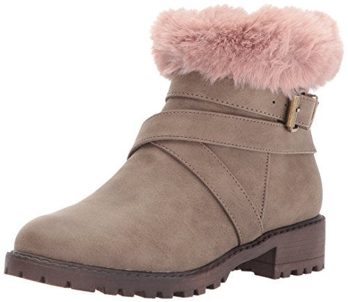 Steve Madden Fur Boots - Steve Madden Girls' JNOLA Fashion Boot, Taupe, 5 M US Big Kid