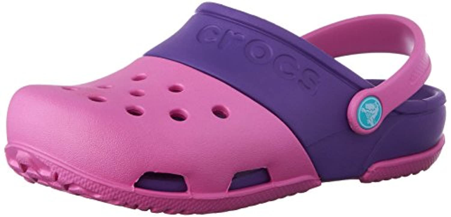 Crocs Electro II Unisex Kids' Clogs - Blue (Navy/Electric Blue), 4 Child UK (19-20 EU)