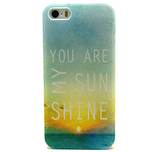 iPhone 5S Coque souple en TPU, yaobaistore Coque de protection en TPU pour Apple iPhone 5/5S Coque souple en silicone gel