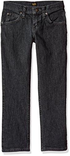LEE Big Boys' Fit Straight Leg Jean, Steel Gray, 14 (Lee Gray Jeans)