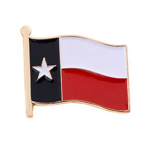 Texas State Flag Lapel Pin Made of Metal Souvenir (Waving Flag Lapel Pin) (Lapel Pins State Flag)