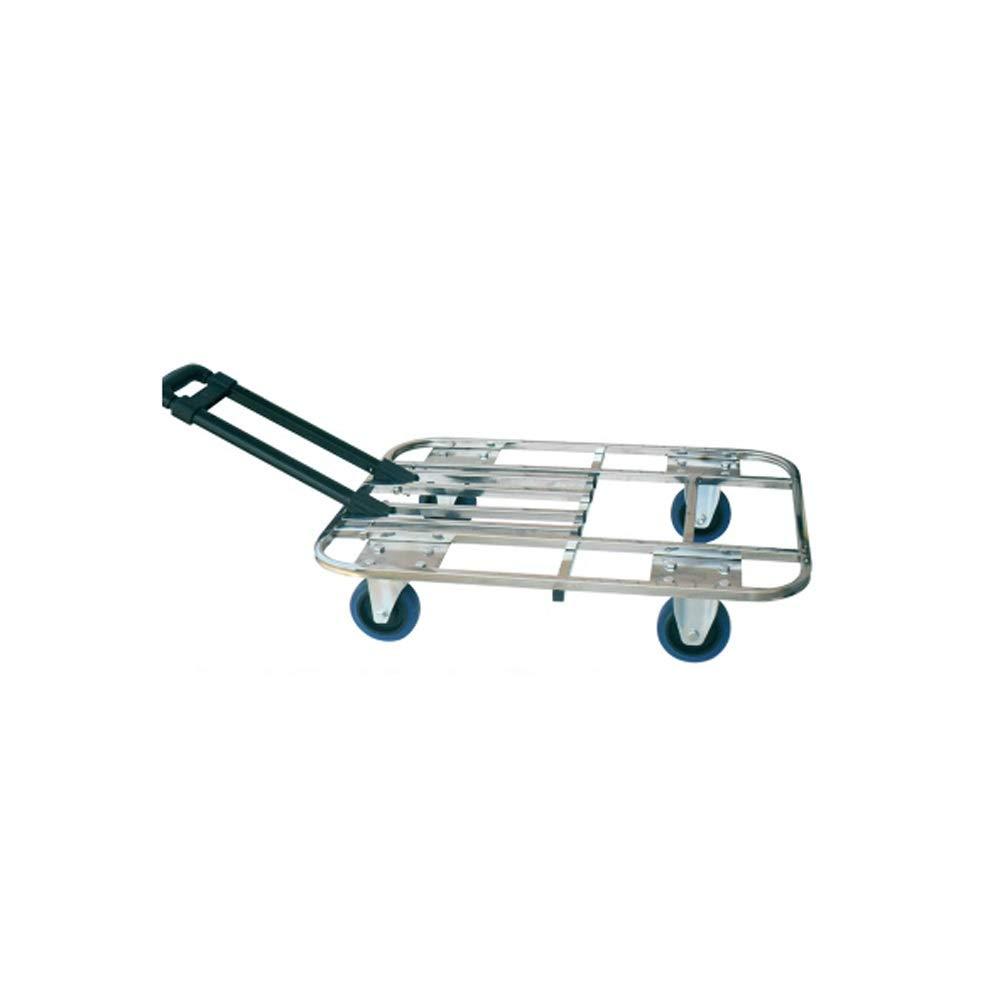 LI MING SHOP ステンレス鋼折りたたみハンドカートカー大型ポータブルフラットトロリー荷物カートショッピングカート B07Q4PPK8T