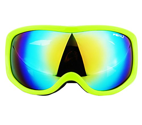 Oudeer Adult Mirrored Reflection Professional Ski Goggles Snowmobile Snowboard Skate Snow Skiing Goggles -- Cross Country Skiing - Mountain Climbing - Hiking Surfing Goggles - Me Good Which Sunglasses On Look