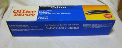 Office Depot Replacement Fax Ribbon for Use with Panasonic* KX-FHD 331, 332, 351 Machines Replaces KX-FA 93