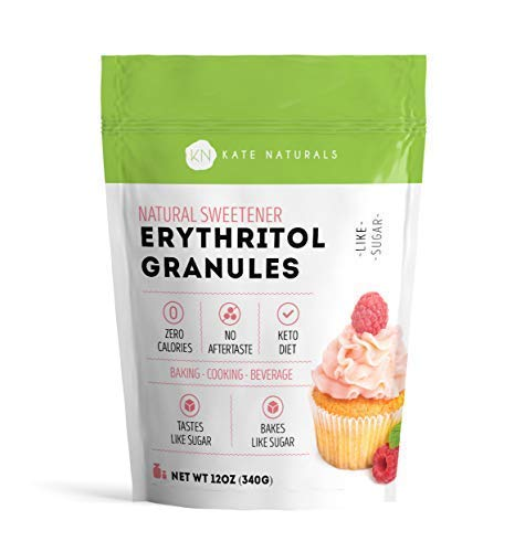 - Erythritol Sweetener Granules by Kate Naturals. Perfect for Keto, Low Carb Diet, Baking, Coffee. Tastes Like Sugar, Zero Calorie. Non-GMO, Natural. Resealable Bag. 1 Year Guarantee (12 oz)