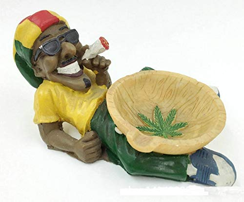 Cenicero de Resina para cenicero de Rasta Cool con Soporte para cáñamo Bobley Marley cenicero, 2