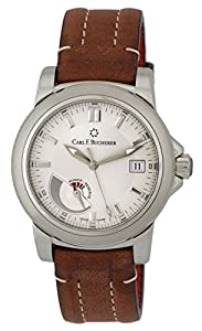 Carl F. Bucherer Patravi Automatic Steel Mens Strap Watch Power Reserve Indicator Date 00.10616.08.13.01