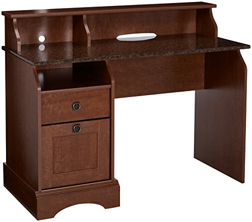 Sauder Graham Hill Desk, Autumn Maple Finish (Oak Desk Antique Top Roll)