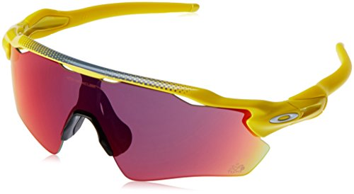 Oakley Men's Radar Ev Path Non-Polarized Iridium Rectangular Sunglasses, Team Yellow, 38 - Prizm Oakley Road