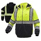 Class 3 Heavy Weight Hi Viz Sweatshirts For Men or Women | Sweatshirt w/DuPont Fabric Protect (X-Large, Lime Yellow)
