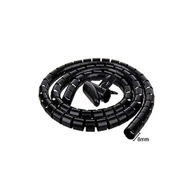 ritardante di fiamma guaina per avvolgimento Cavo avvolgibile a spirale 2 pezzi tubo corrugato protezione elettrica organizzatore per cavi flessibile